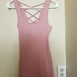 Pink Bodycon Mini Dress